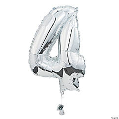 """4"" Shaped Mylar Number Balloon"
