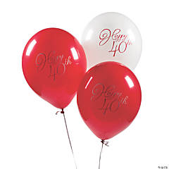 40th Anniversary Latex Balloons