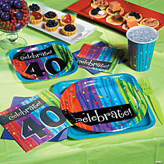 40th Birthday Milestone Celebration Party Supplies