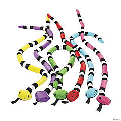 "45"" Bright Stuffed Snakes"