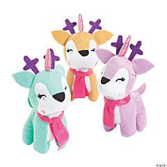 """5.5"""" Christmas Unicorn Stuffed Reindeers"""