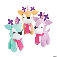 "5.5"" Christmas Unicorn Stuffed Reindeer"