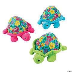 "5.5"" Luau Stuffed Turtles"