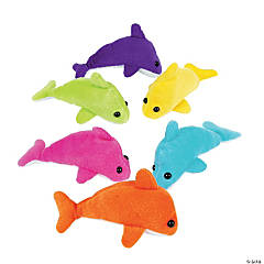 "5.5"" Mini Stuffed Dolphins"