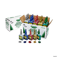 5-Color Crayola® Washable Glitter Glue Classpack® - 20 pack (4 oz.)