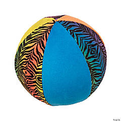 "5"" Inflatable Plush Neon Animal Print Balls"