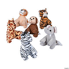 "5"" Soft Stuffed Zoo Animals"
