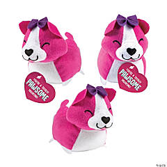 "5"" Valentine Stuffed Corgis with Card"