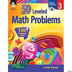 50 Leveled Math Problems Book with CD, Level 3