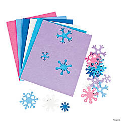 500 Fabulous Foam Self-Adhesive Snowflake Shapes