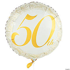 50th Anniversary Mylar Balloon