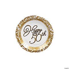 50th Anniversary Paper Dessert Plates - 8 Ct.