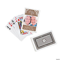 50th Anniversary Playing Cards with Custom Photo Sticker Box