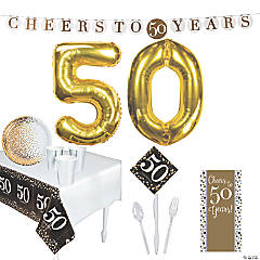 50th Birthday Party Tableware Kit for 24 Guests