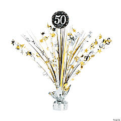 50th Birthday Sparkling Celebration Centerpiece