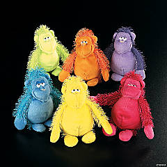 "6.5"" Bright Stuffed Gorillas"