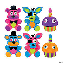 "6.5"" Neon Five Nights at Freddy's™ Plush Character"