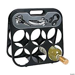 6-Bottle Wine Rack Gift Set