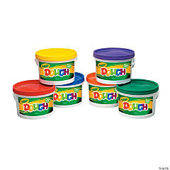 6-Color Crayola® Dough Resealable Buckets
