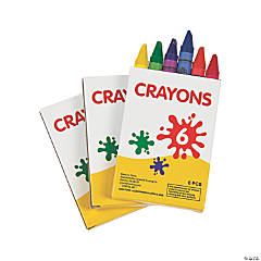 6-Color Crayons - 48 Boxes
