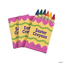 6-Color Easter Crayons - 48 Boxes