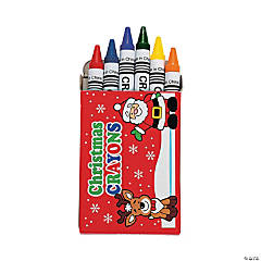 6-Color Holiday Crayons - 48 Boxes