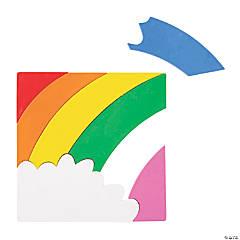 6-Color Rainbow Puzzle Crayons – 12 Puzzles