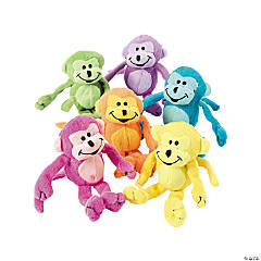 "6"" Neon Stuffed Monkeys"