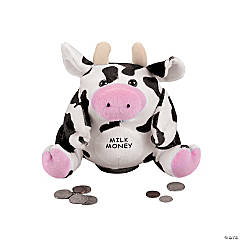 "6"" Plush Milk Money Cow Bank"