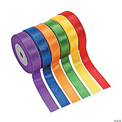 6 Rolls of Awesome Satin Ribbon