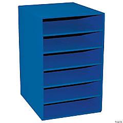 "6-Shelf Organizer, Blue, 17-3/4""H x 12""W x 13-1/2""D, 1 Organizer"