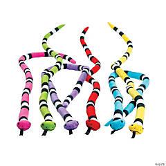 "60"" Bright Stuffed Snakes"