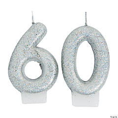 60th Birthday Sparking Celebration Candle
