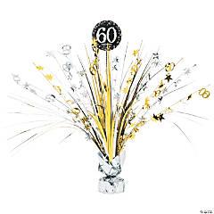 60th Birthday Mini Foil Centerpiece Party Decoration
