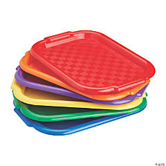 6pc Colorful Plastic Art Trays for Fun Kids Crafts at School - Assorted (12-Pack)