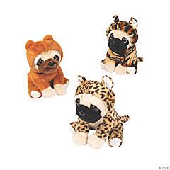 "7 1/2"" Jungle Stuffed Pugs"