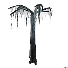 7.5' Black and Gray Spooky Standing Ghost Tree Halloween Decoration