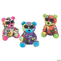 "7"" Graffiti Stuffed Bear"
