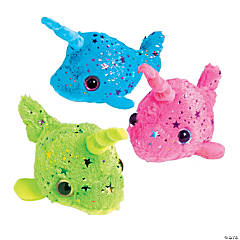 "7"" Small Stuffed Narwhals"