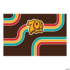 70s Party Backdrop Banner