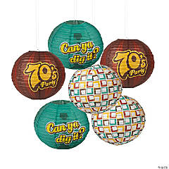 70s Party Hanging Paper Lanterns
