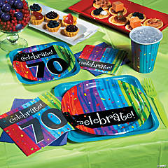 70th Birthday Milestone Celebration Party Supplies