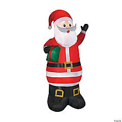 "78"" Blow Up Inflatable Santa with Gift"