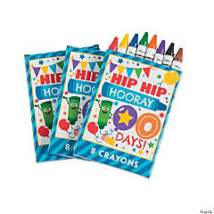 8-Color 100th Day of School Crayons - 12 Boxes