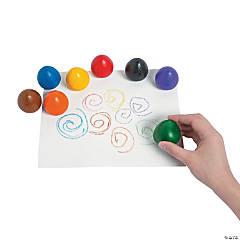 8-Color Chubby Crayon Eggs