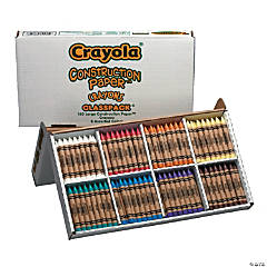 8-Color Crayola® Large Construction Paper™ Crayons Classpack - 160  Pc.