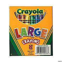 8-Color Crayola® Large Crayons