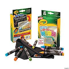 8-Color Crayola® Neon Dry Erase Crayons