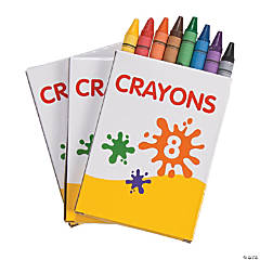 8-Color Crayons - 12 Boxes