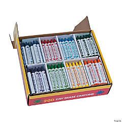 8-Color Dry Erase Crayon Classpack - 200  Pc.